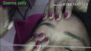 How to Shape Eyebrows Threading Eyebrows full Tutorial Seema jaitly