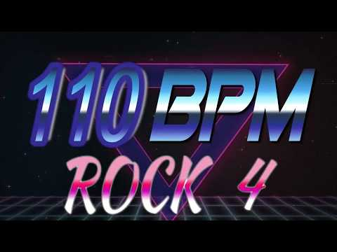 110 BPM - Rock 4 - 4/4 Drum Track - Metronome - Drum Beat