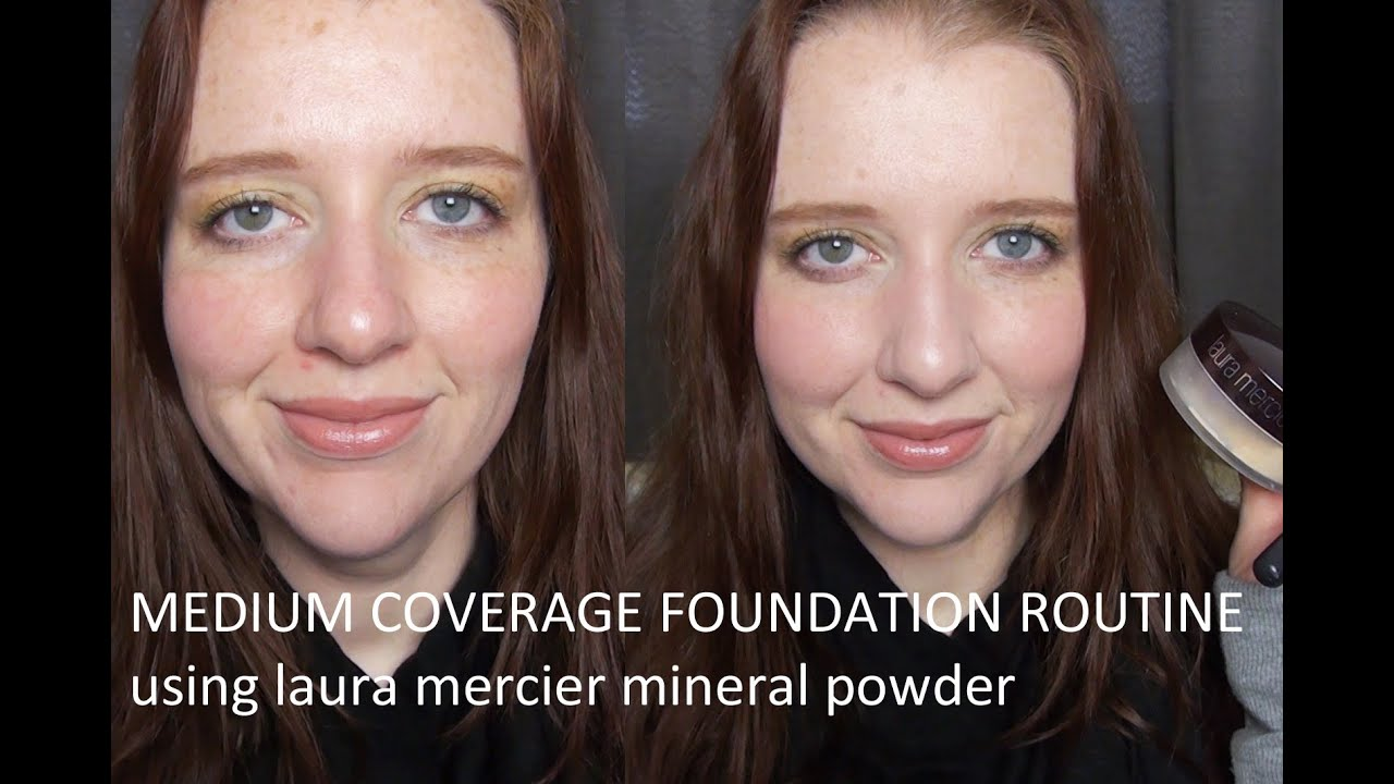 medium coverage foundation routine using laura mercier. Black Bedroom Furniture Sets. Home Design Ideas
