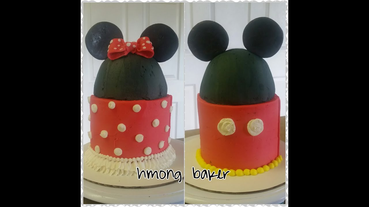 MICKEY MINNIE MOUSE CAKE Cake Decorating YouTube
