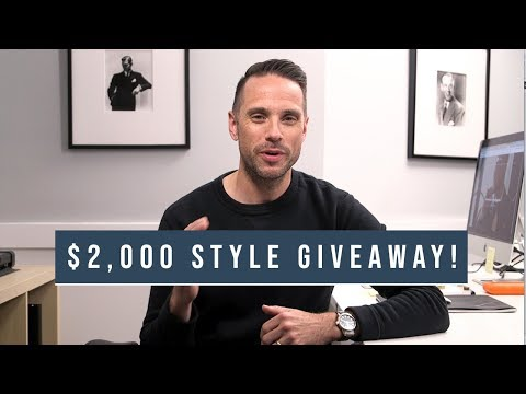 Enter To Win A $2,000 Men's Style Package!