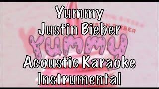 Justin bieber - yummy acoustic karaoke instrumental