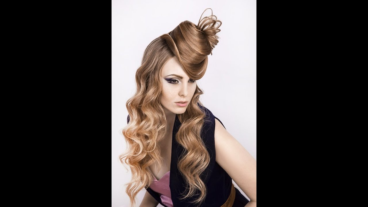 Прическа шляпка из волос