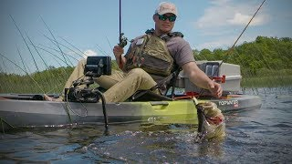 Kayak Fishing Bass With Hollow Body Frogs
