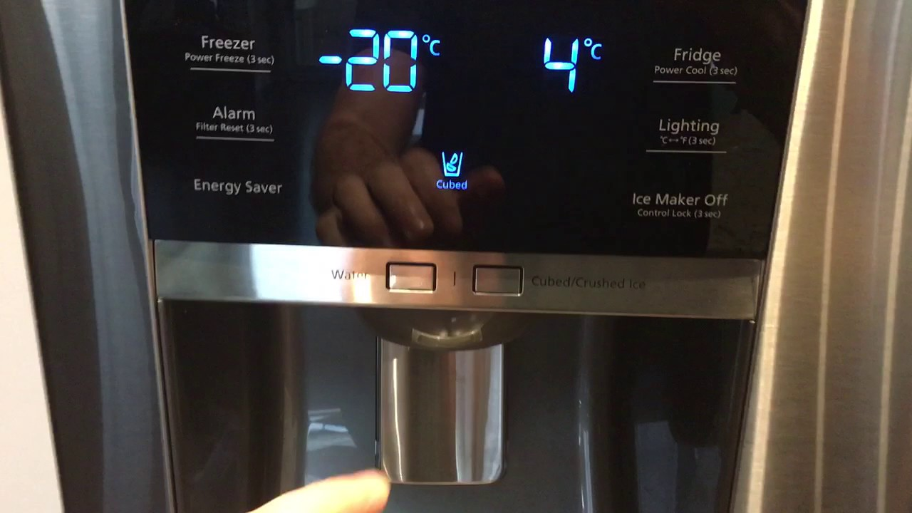 Samsung Fridge Control Panel Issue