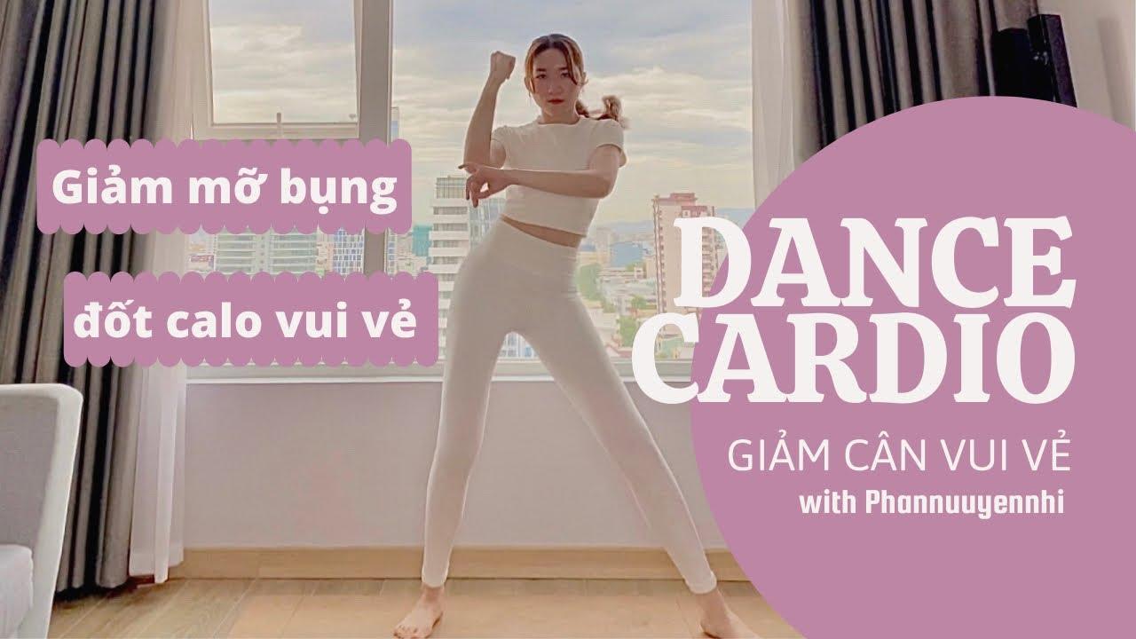 CARDIO VUI VẺ ĐỐT 1000calo - bài tập giảm cân giảm mỡ bụng siêu hiệu quả   Dance Cardio