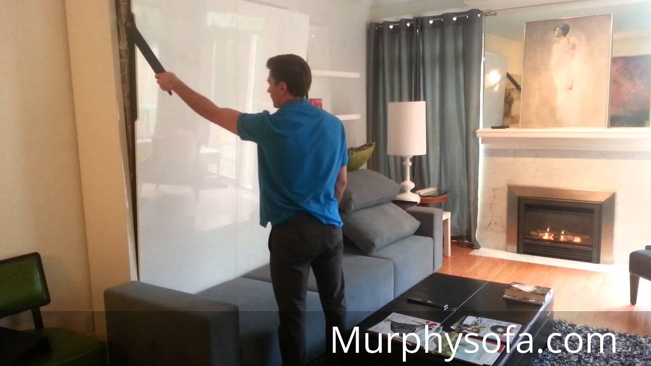 Space Saving Tips For Small Living With Murphy Sofa Wall Bed