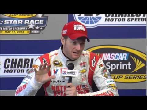 Dale Earnhardt Jr CMS Sprint All-Srar Interview NASCAR Video