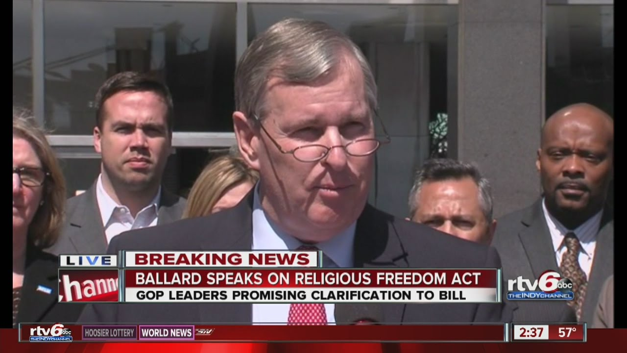 Mayor Greg Ballard speaks about Indianapolis response to RFRA