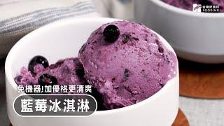 【懶人甜點】藍莓懮格冰淇淋~果香濃郁、口感清爽滑順,天然無添加!Blueberry Yogurt Ice Cream| 台灣好食材 Fooding
