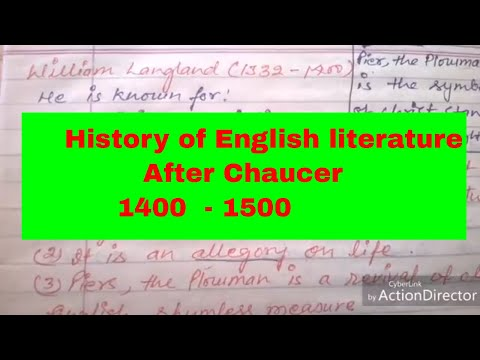 History of English literature॥after Chaucer dark age ॥ net ,tgt pgt study ॥ dsssb