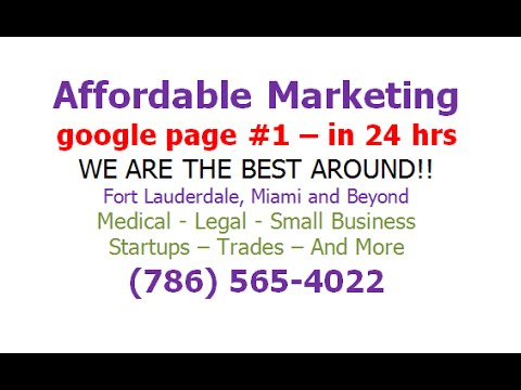 Seo Agency In Fort Lauderdale - CALL 786-565-4022