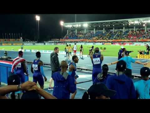 IAAF World Relays Bahamas 2017 Mixed Relays - the crowd went wild!