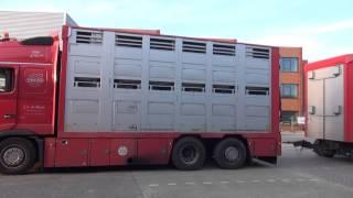 Volvo 610 veetransport J A de Haan uit Harkema friesland, met open pijp