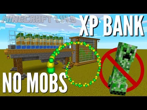 Minecraft XP Farm: No Mob XP Bank For Minecraft 1.14.3 | Peaceful Mode Adjustable XP Farm (Avomance)