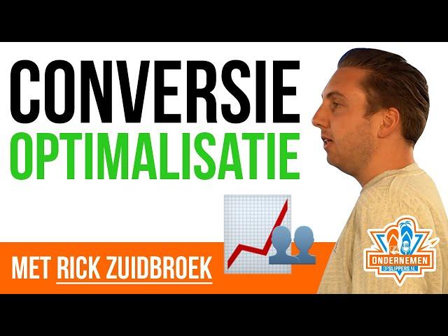 Tips voor conversie optimalisatie [CRO] van Rick Zuidwijk