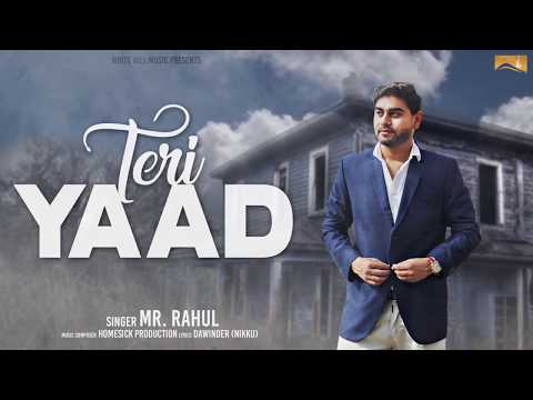 Teri Yaad (Motion Poster) Mr.Rahul | White Hill Music | Releasing on 18th July