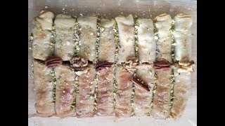 Baklava rolls - How to Make Baklava from Scratch - Baklava recipe by easy cooking with Shazia