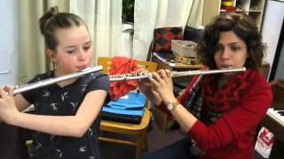 Flute Lesson, Teacher: Bahar Ehsani, Student: Iaroslava