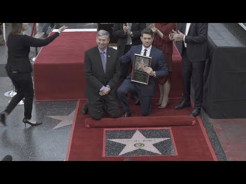 Michael Bublé Receives His Star on the Hollywood Walk of Fame