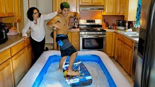 GIANT POOL IN KITCHEN PRANK ON MOM