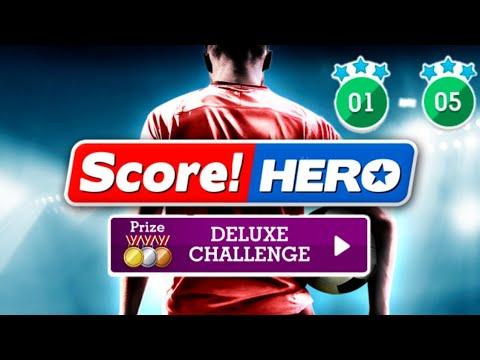 Score! Hero - Deluxe Challenge - Level 1-5 - 3 Stars