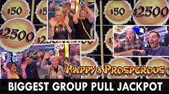 🥳 NEW BIGGEST GROUP JACKPOT! 💰 $1000/Person Makes Us Happy & Prosperous 🎰 STRAT Vegas #ad