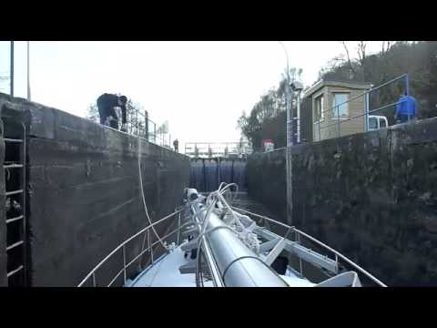 Lock operation in the canal des vosges
