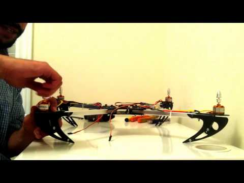 HobbyKing X525 V3 Basic Quadcopter Drone Tutorial Chapter 3 Electronics Installation