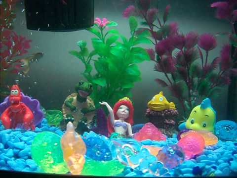 disney the little mermaid fish tank youtube