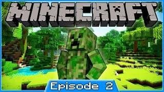 MINECRAFT PS3 - SURVIVAL - PART 2 - CAVES CAVES CAVEZ!