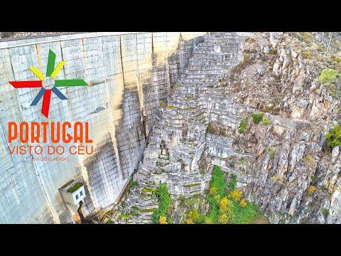 Escadaria da Barragem de Varosa - Varosa Dam Big stairs - Lamego - 4K Ultra HD