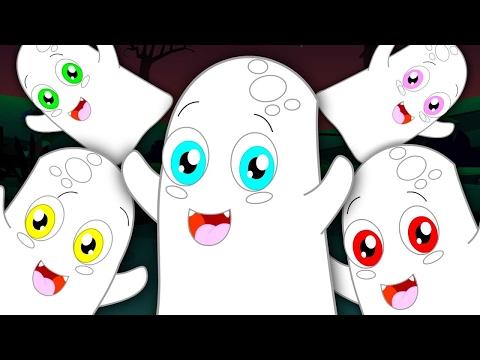 five little ghost  happy Halloween  nursery rhymes for children  kids songs