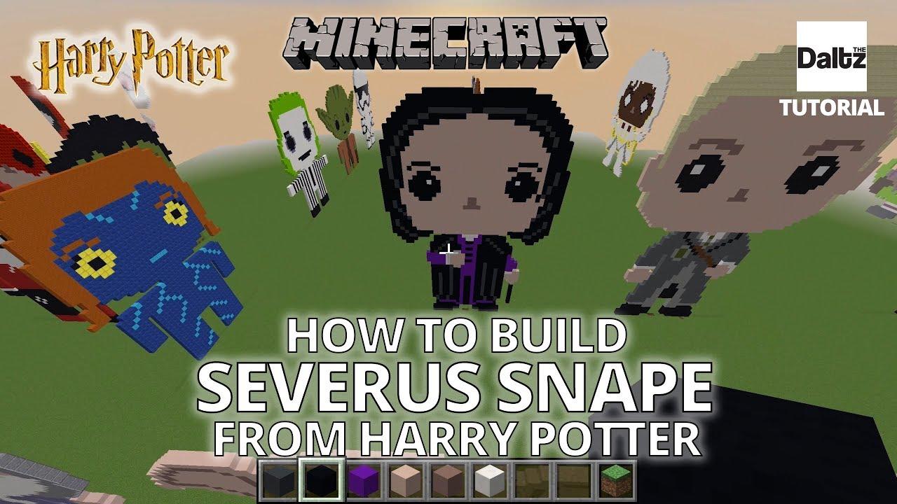 Minecraft Pixel Art Severus Snape Harry Potter Tutorial