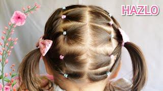 Peinados de niña faciles cabello corto