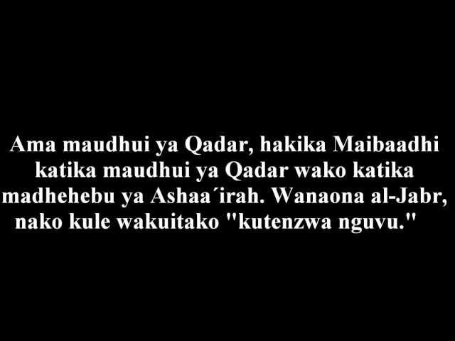 Maibaadhi Ni Watu Gani Na Ipi Itikadi Yao?