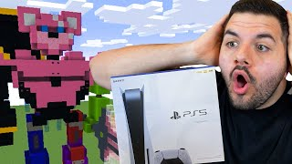 I had my viewers Minecraft build battle for a PS5...