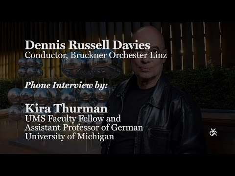 Interview: Conductor Dennis Russell Davies | UMS presents
