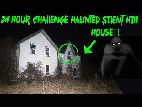 24 HOUR OVERNIGHT CHALLENGE IN HAUNTED SILENT HILL HOUSE // ATTACKED BY GHOST!