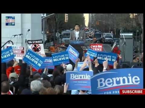 FULL EVENT: Bernie Sanders Washington Square Park New York Rally w/ Vampire Weekend (4 13
