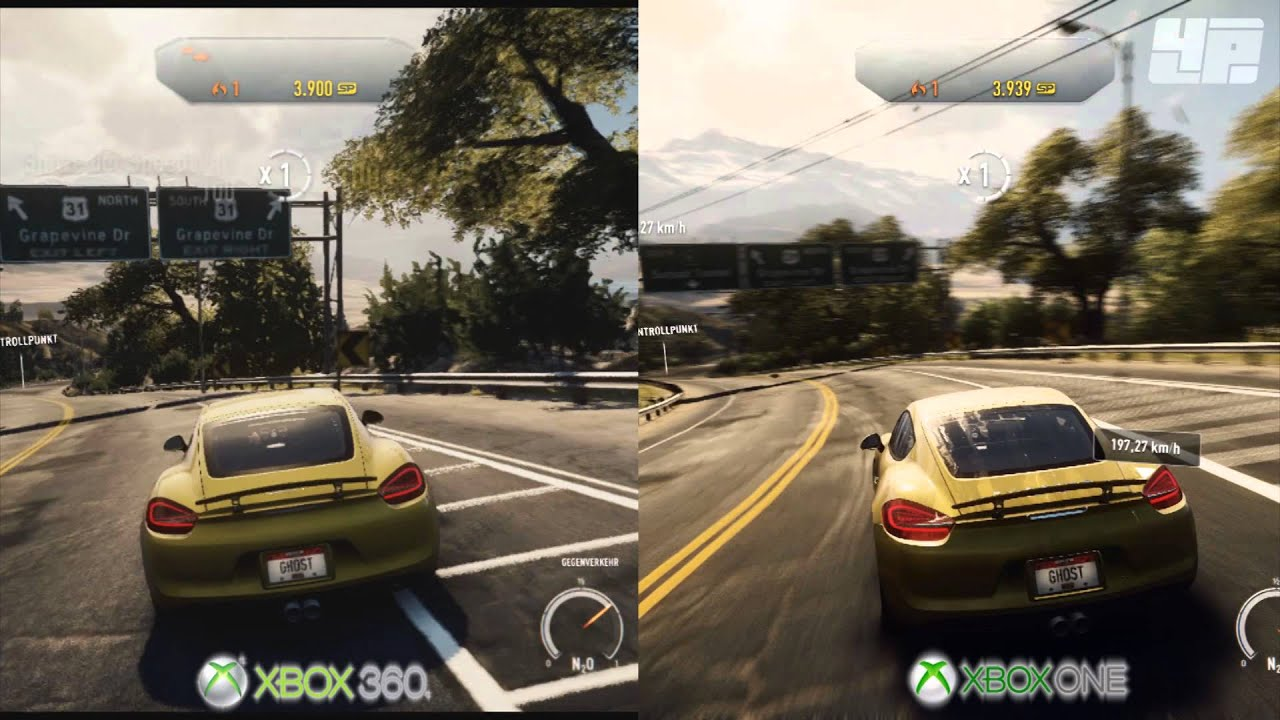 need for speed rivals xbox one xbox 360 grafikvergleich youtube. Black Bedroom Furniture Sets. Home Design Ideas