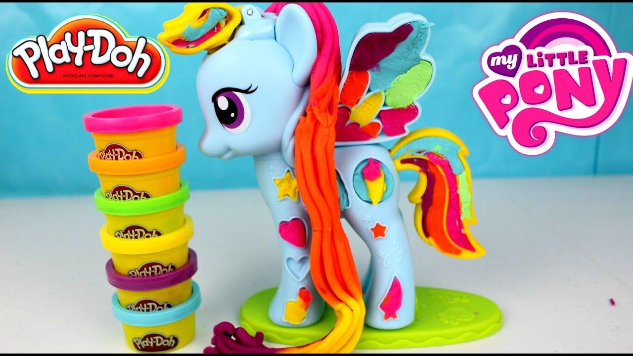 Plastilina Play Doh My Little Pony Rainbow Dash | MLP PLAY DOH - YouTube