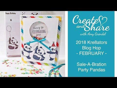 FEBRUARY KRE8TORS BLOG HOP - PARTY PANDAS
