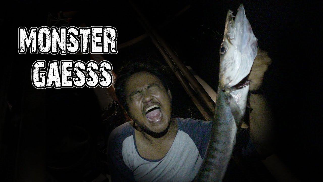 ternyata ikan monster keluarnya di malam hari