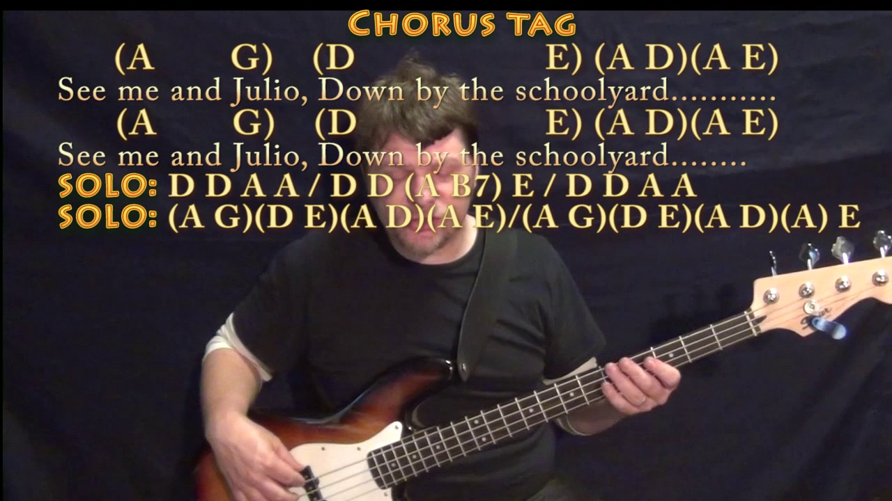 Me And Julio Down By The Schoolyard Paul Simon Bass Guitar Cover