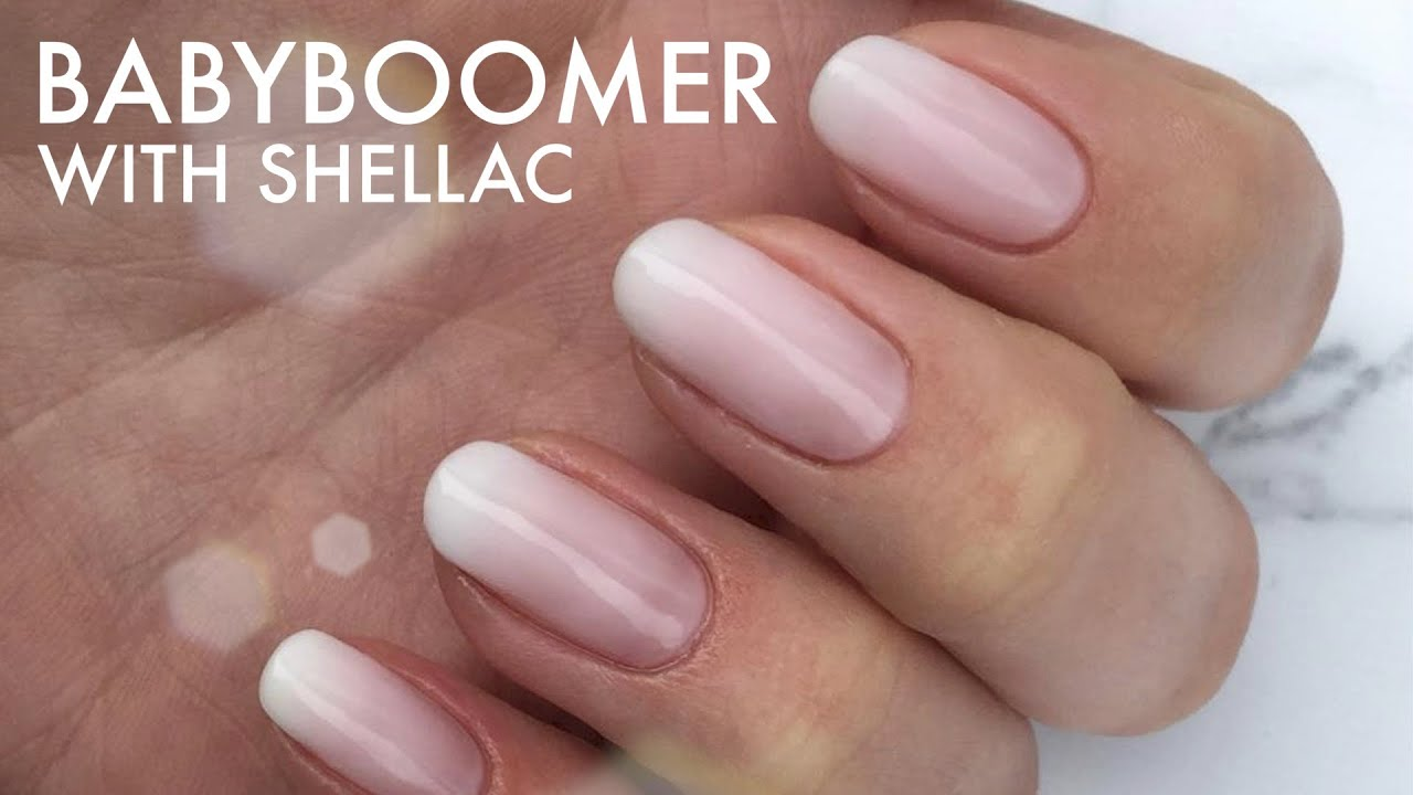 French Nägel Babyboomer With Shellac