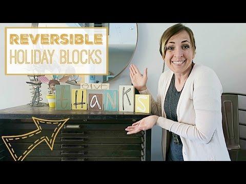 Give Thanks Reversible Holiday Blocks
