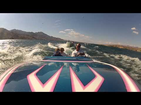 GoPro on front of boat pointing backwards