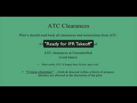 IFR Clearance