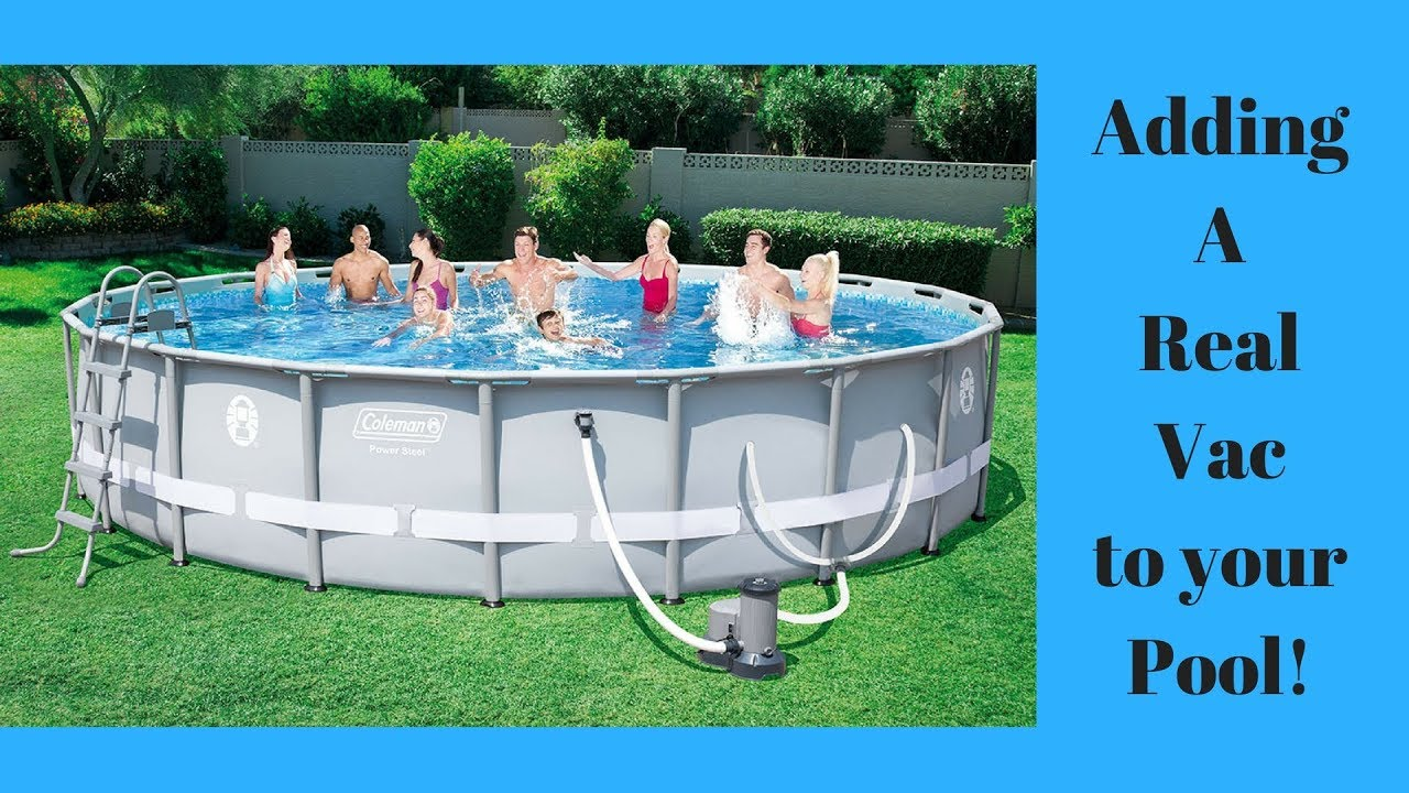 Real Vac For Colman Or Intex Pools Youtube